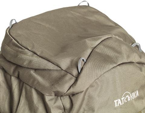 Петли на крышке рюкзака: через них можно пропустить шнур и закрепить куртку или шлем - Объемный и надежный туристический рюкзак Tamas 100 navy