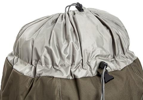 Верхний вход в основное отделение на двух утягивающихся сторпах - Туристический рюкзак для переноски тяжелых грузов Bison 120 black