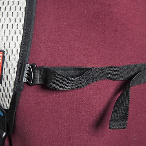 В нагрудный ремень вшита резинка для максимальной свободы движения - Легкий рюкзак для бега или велоспорта Baix 10