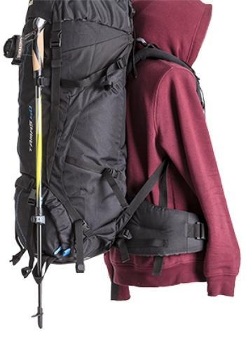Петли для крепления трекинговых палок - Универсальный трекинговый туристический рюкзак среднего объема Tamas 70 black