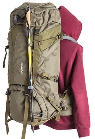 Петли для крепления треккинговых палок - Объемный и надежный туристический рюкзак Tamas 120 navy