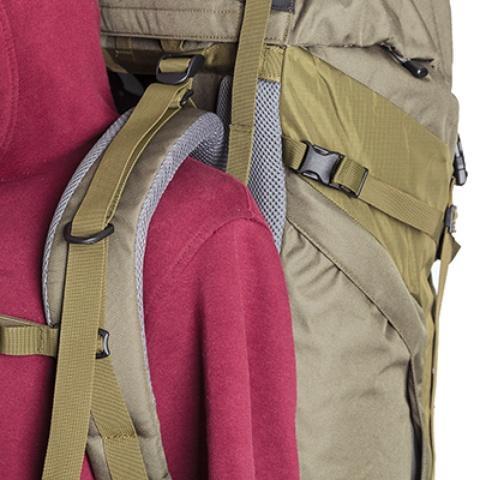 Широкие лямки анатомической формы - Объемный и надежный туристический рюкзак Tamas 100 navy