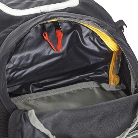 Перегородка между верхним и нижним отделениями легко отстегивается - Легкий спортивный рюкзак с фронтальной загрузкой Skill 30 red