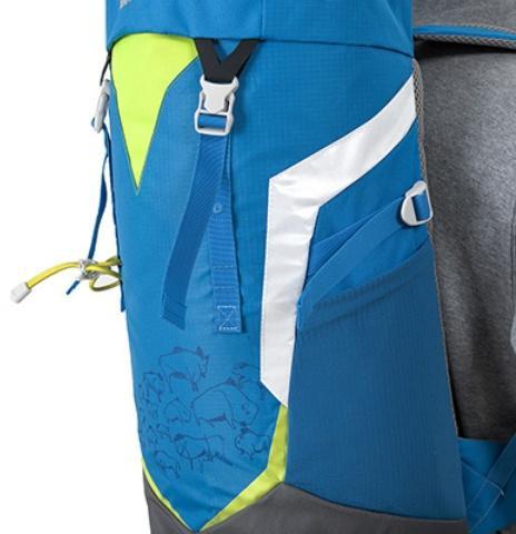 Светоотражающие полоски - Яркий и удобный рюкзак для путешественников старше 10 лет Mani lawn green