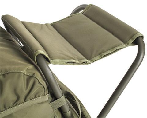 Удобное широкое сиденье с тройной прострочкой - Складной рыбацкий рюкзак-стул Fisherstuhl cub