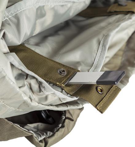 Съемные дуги легко вытаскиваются и рюкзак легко компактно сложить - Объемный и надежный туристический рюкзак Tamas 120 navy