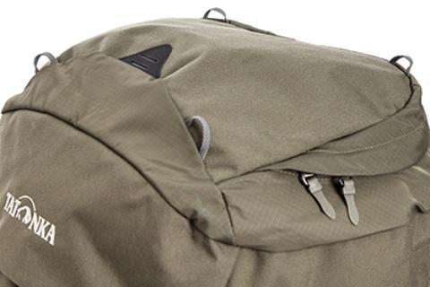 Петли в крышке рюкзака для крепления каски или куртки - Туристический рюкзак для переноски тяжелых грузов Bison 120 black