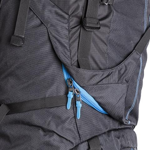3D-доступ в основное отделение: молния с двумя бегунками открывается по всему периметру - Универсальный трекинговый туристический рюкзак среднего объема Tamas 70 black