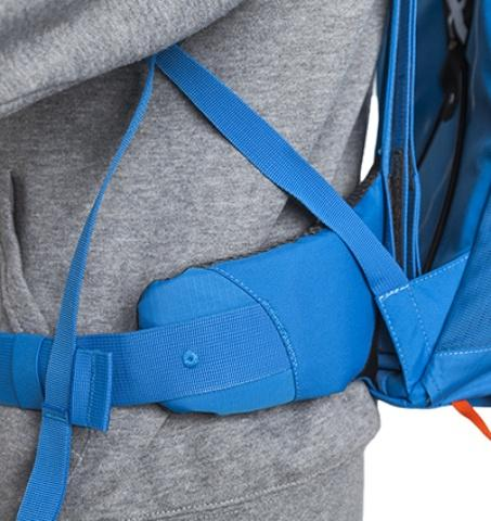 Мягкие и комфортные боковины поясного ремня - Походный рюкзак с верхней загрузкой Yalka 24