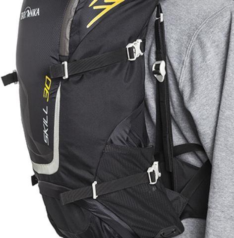 Боковые утягивающие стропы - Легкий спортивный рюкзак с фронтальной загрузкой Skill 30 red