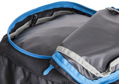 Большой карман в крышке рюкзака - Универсальный трекинговый туристический рюкзак среднего объема Tamas 70 black