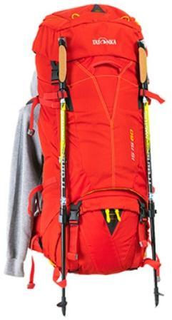 Крепление для одной или двух треккинговых палок - Женский трекинговый туристический рюкзак Isis 60 red