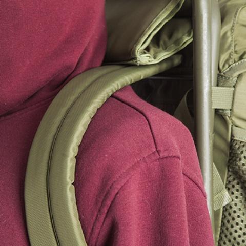 Мягкие лямки - Складной рыбацкий рюкзак-стул Fisherstuhl cub