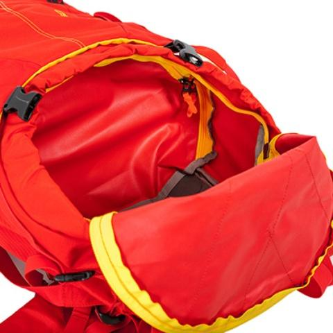 Съемная перегородка между верхним и нижним отделениями - Женский трекинговый туристический рюкзак Isis 60 red