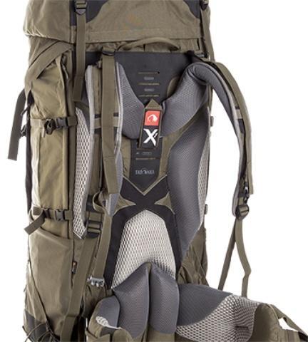 Уникальная система переноски X1: позволяет нести тяжелые грузы на большие расстояния - Туристический рюкзак для переноски тяжелых грузов Bison 75 navy