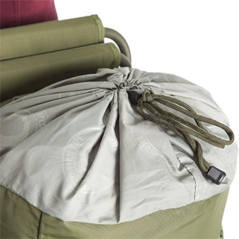 Утягивающийся вход: дополнительная возможность увеличения объема рюкзака - Складной рыбацкий рюкзак-стул Fisherstuhl cub