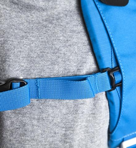 В нагрудный ремень вшита резинка для комфорта во время активного движения - Походный рюкзак с верхней загрузкой Yalka 24