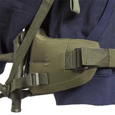 Широкий и мощный набедернный ремень - Станковый рюкзак для переноски тяжелых грузов Lastenkraxe
