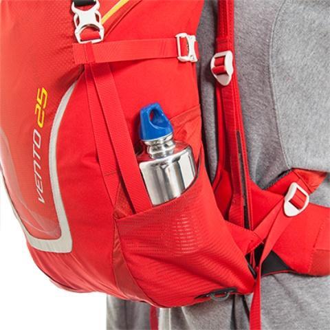 Боковые сетчатые карманы - Спортивный рюкзак с подвеской X Vent Zero Vento 25 lemon