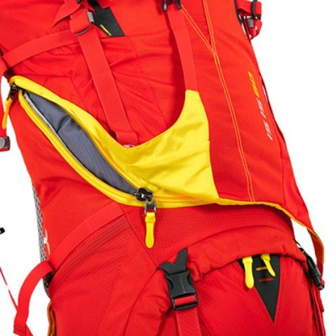 3d-доступ в центральное отделение - Женский трекинговый туристический рюкзак Isis 60 red