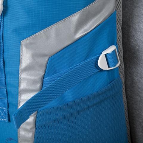 Боковые утягивающиеся стропы - Яркий и удобный рюкзак для путешественников старше 10 лет Mani lawn green