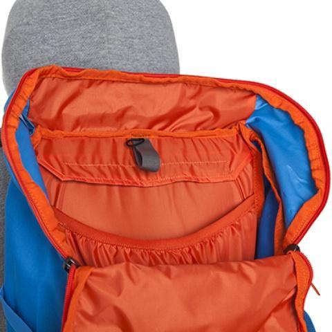 Внутри основного отделения - карман на резинке и крепление для питьевой системы - Походный рюкзак с верхней загрузкой Yalka 24