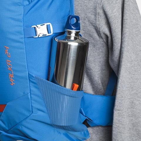 Сетчатые боковые карманы - Походный рюкзак с верхней загрузкой Yalka 24