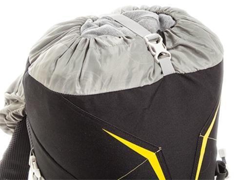 Утягивающийся вход в рюкзак возможность увеличения объема - Легкий горный рюкзак Cima di Basso 35 blue/carbon