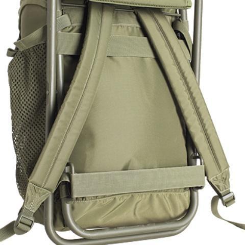 Стропы натяжения спины - Складной рыбацкий рюкзак-стул Fisherstuhl cub