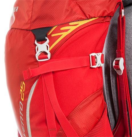 Боковые утягивающие стропы - Спортивный рюкзак с подвеской X Vent Zero Vento 25 lemon
