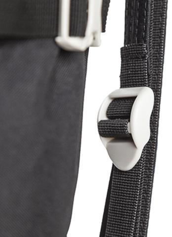 Фастексы для регулировки натяжения системы спины - Легкий спортивный рюкзак с фронтальной загрузкой Skill 30 red