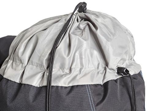Утягивающийся вход в рюкзак - Универсальный трекинговый туристический рюкзак среднего объема Tamas 70 black