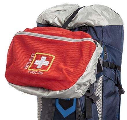 Ярко обозначенное отделение для аптечки - Трекинговый туристический рюкзак для продолжительных походов Yukon 70