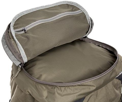 Большой карман в крышке рюкзака - Туристический рюкзак для переноски тяжелых грузов Bison 75 navy
