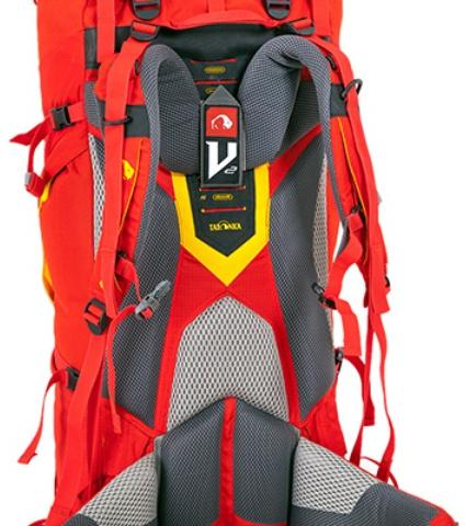 Система переноски V2: позволяет переносить большой вес с комфортом - Женский трекинговый туристический рюкзак Isis 60 red