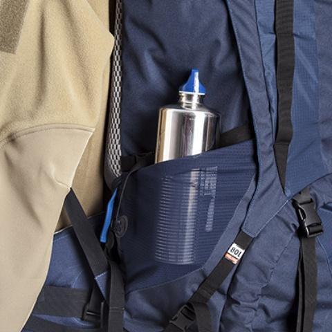 Боковые эластичные карманы - Универсальный трекинговый туристический рюкзак Yukon 60
