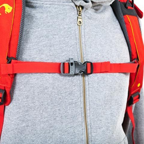 Регулируемый по ширине и высоте нагрудный ремень со свистком - Женский трекинговый туристический рюкзак Isis 60 red