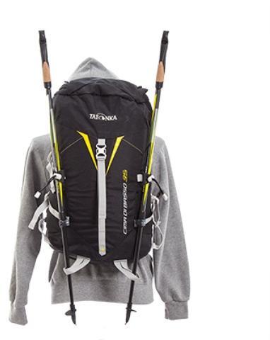 Возможность крепления треккинговых палок - Легкий горный рюкзак Cima di Basso 35 blue/carbon