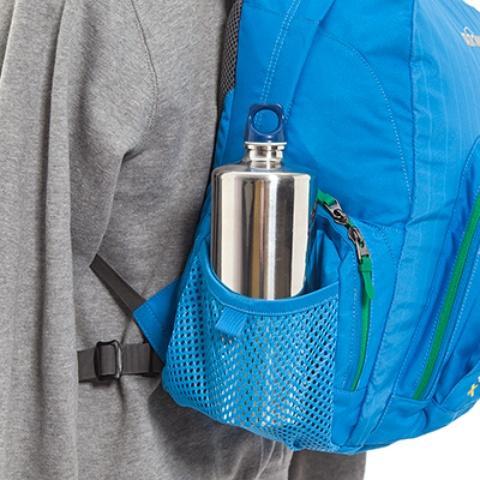 Боковые сетчатые кармашки - Городской рюкзак с множеством карманов Kangaroo bright blue