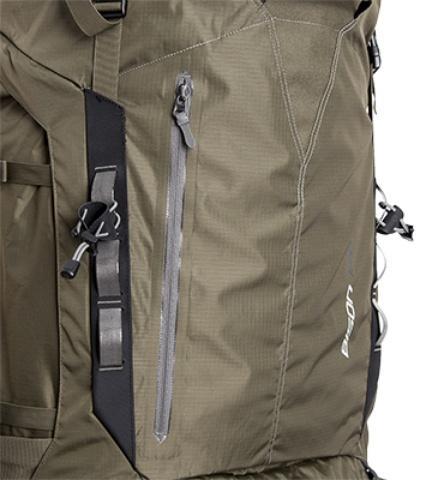 Центральный карман на молнии - Туристический рюкзак для переноски тяжелых грузов Bison 120 black