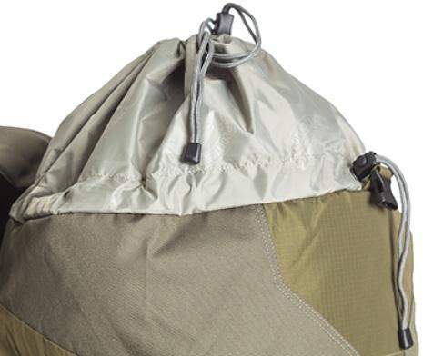 Утягивающийся вход с двумя стропами утяжки - Объемный и надежный туристический рюкзак Tamas 100 navy
