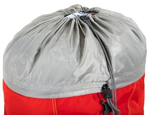 Верхний утягивающийся вход - Женский трекинговый туристический рюкзак Isis 60 red