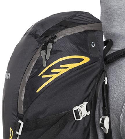 Молния с двумя бегунками обеспечивает легкий доступ к вещам в верхнем отделении - Легкий спортивный рюкзак с фронтальной загрузкой Skill 30 red