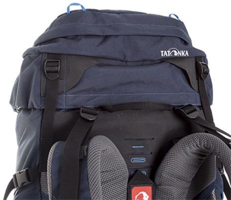 Регулировка высоты крышки рюкзака - Трекинговый туристический рюкзак для продолжительных походов Yukon 70