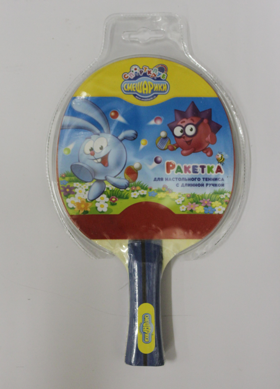 Ракетка для настольного тенниса Смешарики 2*, длинная ручка SMTT103