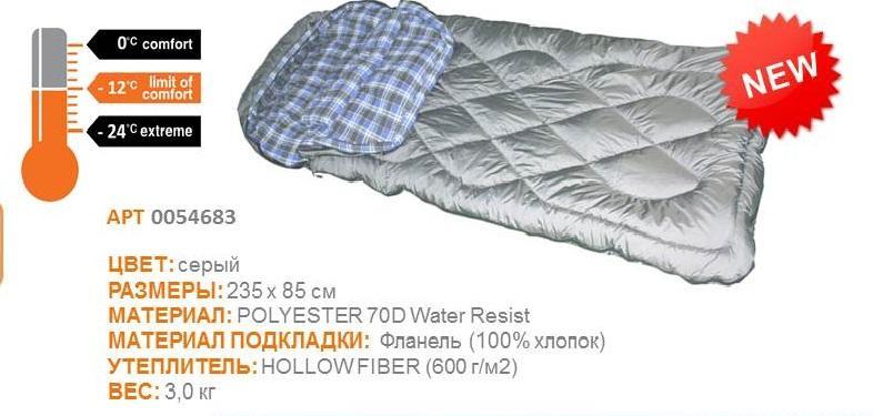 Спальный мешок Woodland IRBIS 600 (сверхтеплый)