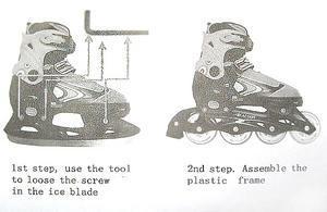 Конек лед/ролик раздвижной левый PW-223 Уцененный 1 шт