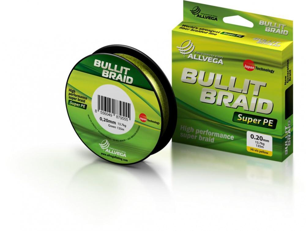 Рыболовная леска ALLVEGA Bullit Braid 135м 0,24
