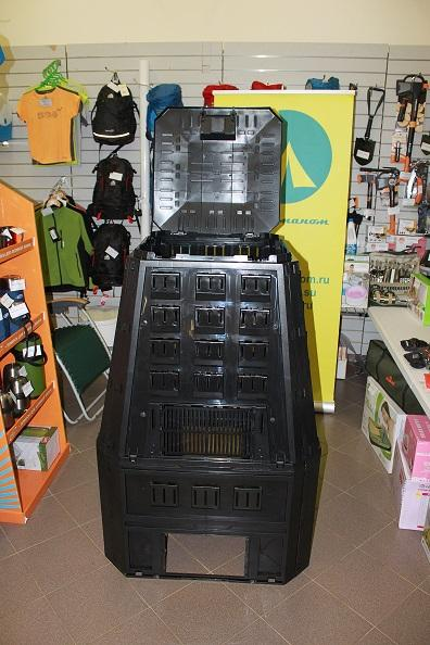 Компостер садовый 800л Evogreen IKST800C черный