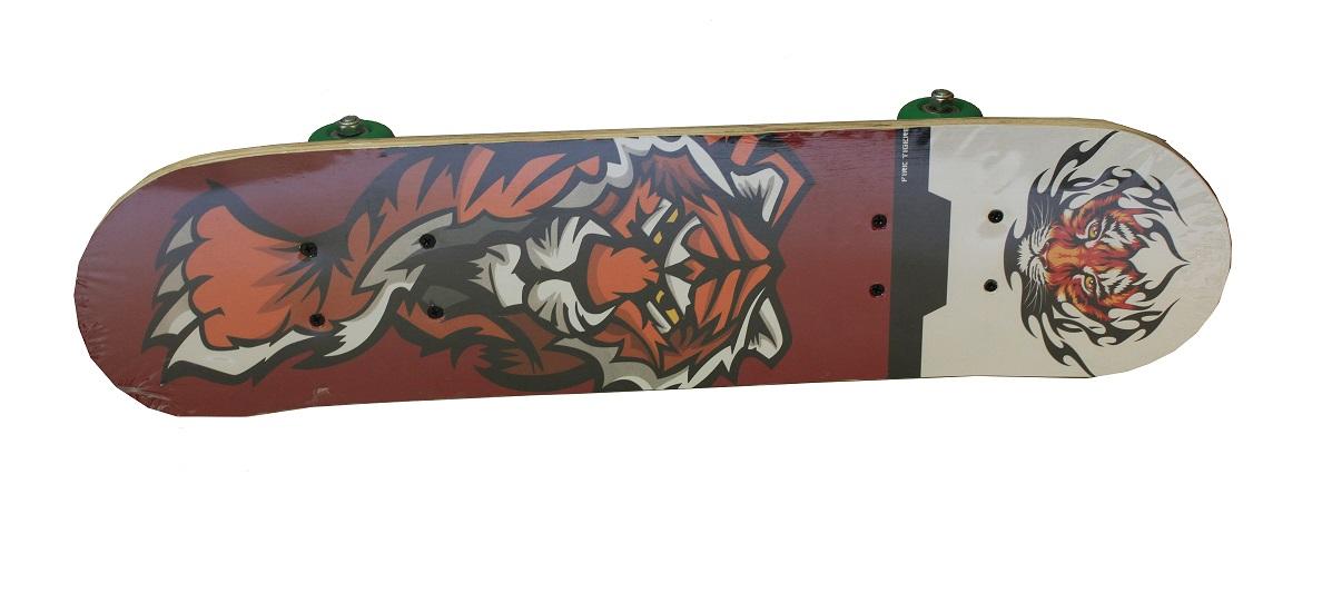 Пени борд DM3101 60 х 15 см. Дека гнутая. Колёса PU 45 мм., алюминиевая подвеска. 13179